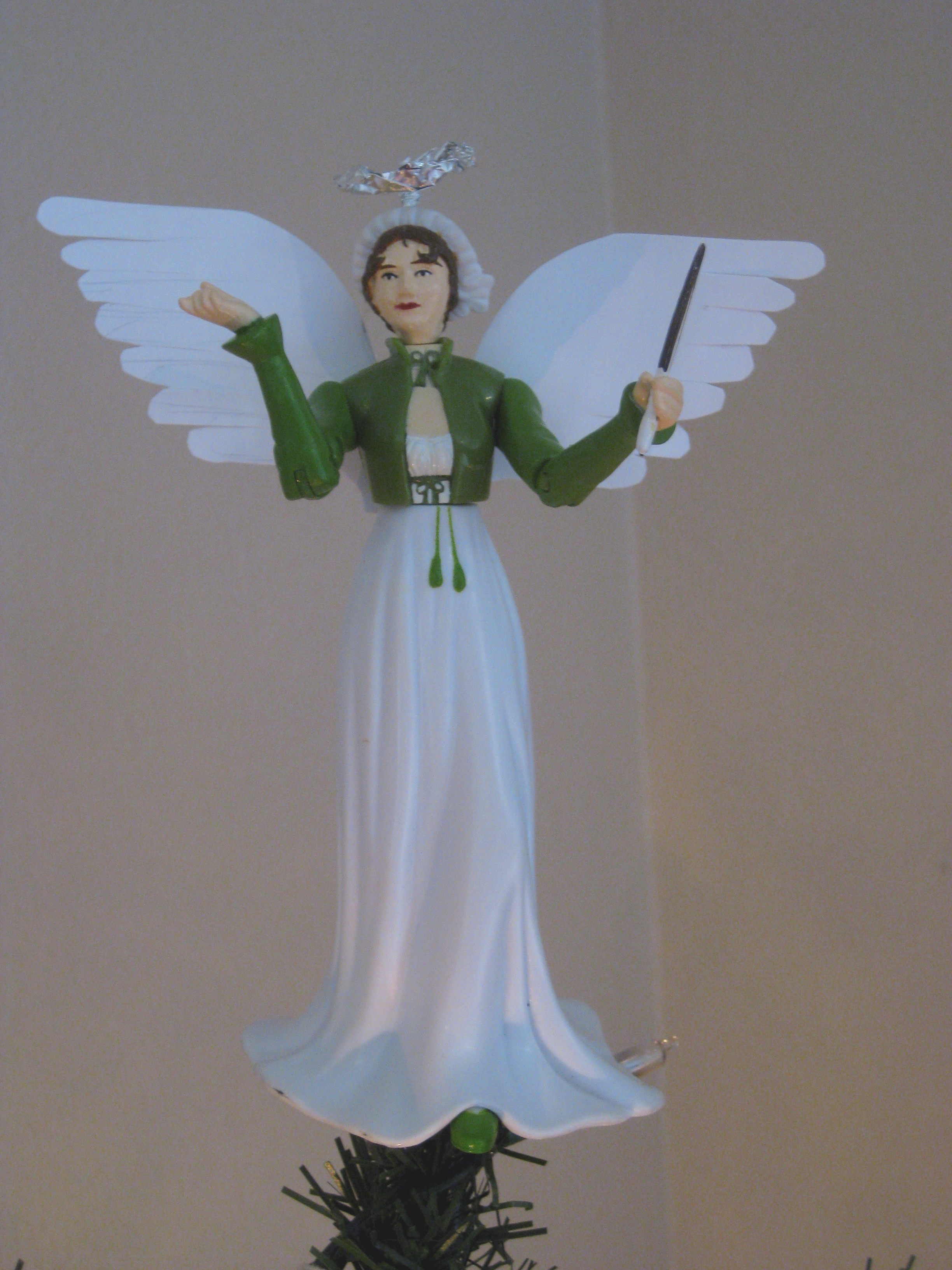 Crafty Jane: How to Make a Jane Austen Christmas Tree Topper ...